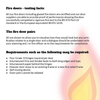 Text explaining fire rating doors requirments