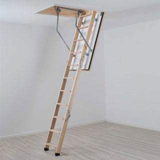 Image: Dolle Wooden Loft Ladder - REI Fire Rated 1150 x 540mm - Insulated Door, Max Ceiling Height 2810mm