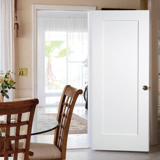 Image: Denver White Primed Panel Fire Door - 1/2 Hour Fire Rated