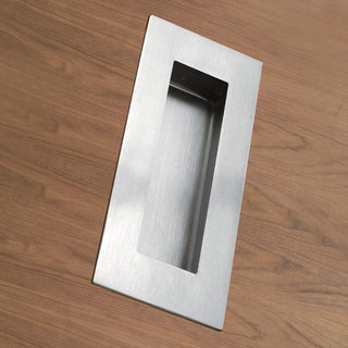 Image: Steelworx 102mm Sliding Door FPH1000 Oblong Flush Pull - 2 Finishes