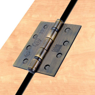 Image: 102x76mm Grade 13 Hinge, also suits fire doors - 2 Finishes