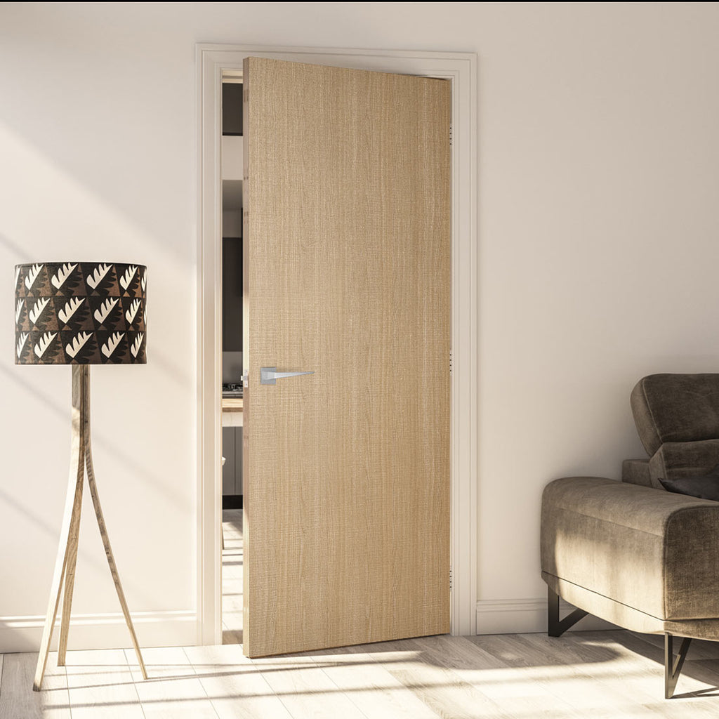 Bespoke Door - Flush American Ash Veneer - Prefinished