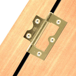 Image: IFL Flush Door Hinges - 2 Sizes and 2 Finishes