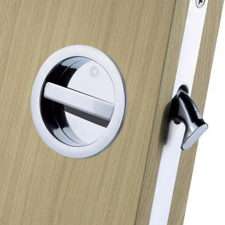 Image: European Manital ART55B Sliding Door Bathroom Lock Set - 2 Finishes