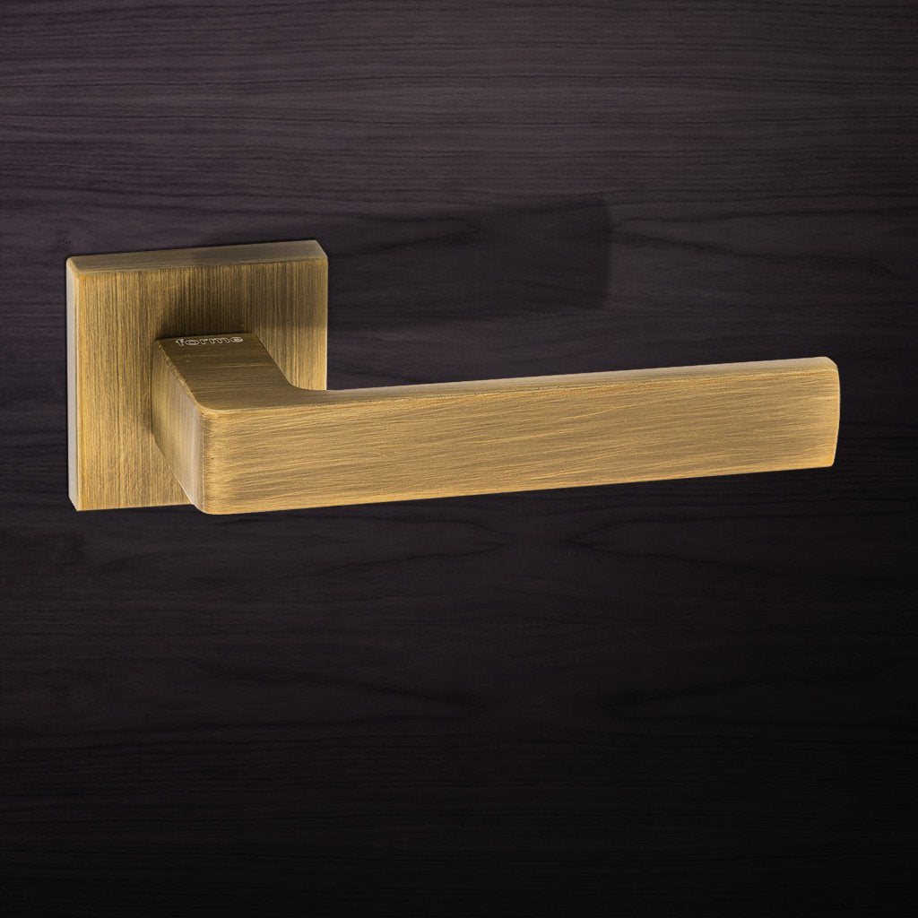 Asti Forme Designer Lever on Minimal Square Rose - Yester Bronze