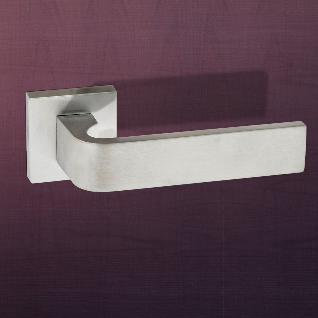 Monza Forme Designer Lever on Minimal Square Rose - Satin Chrome