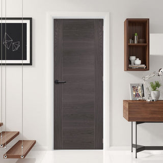 Image: Mode Forli Door - Umber Grey Laminate - 1/2 Hour Fire Rated - Prefinished