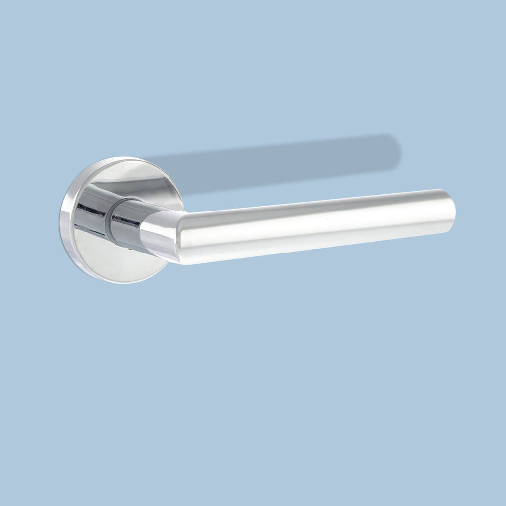 Forme Elle Design Lever on Round Rose - Polished Chrome