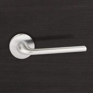 Image: Forme Milly Designer Lever on Round Rose - Satin Chrome