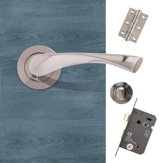 Image: Fortuna Bathroom Door Handle Pack