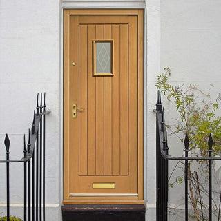 Image: Prefinished Chancery External Oak Door - Decorative Double Glazing