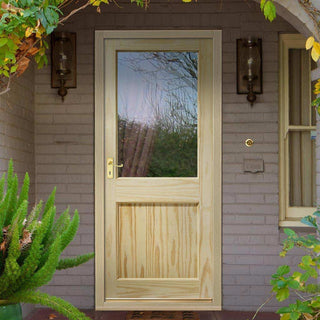 Image: 2XG External Pine Door - Dowel Jointed - Clear Single Glass