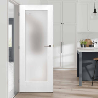 Image: Pattern 10 white interior glazed door