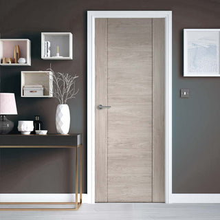 Image: J B Kind Laminates Alabama Fumo Smoky Grey Coloured Door - Prefinished