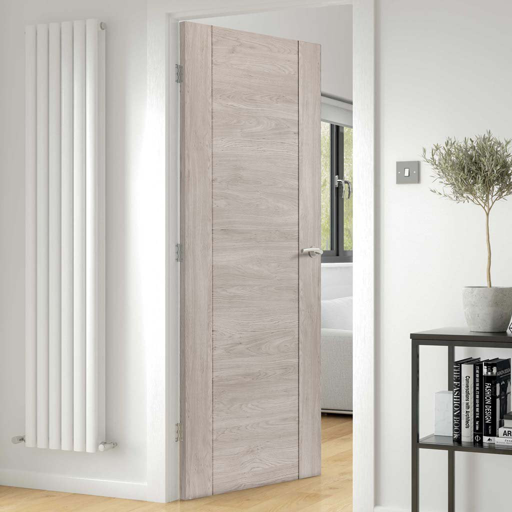 J B Kind Laminates Alabama Fumo Smoky Grey Coloured Fire Door - 1/2 Hour Fire Rated - Prefinished