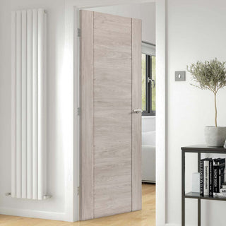 Image: J B Kind Laminates Alabama Fumo Smoky Grey Coloured Fire Door - 1/2 Hour Fire Rated - Prefinished