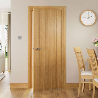 Image: Galway Real American Oak Veneer Door Unfinished