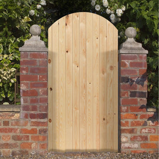 Image: Oxford Gate, Pine Arch Top Ledged & Braced