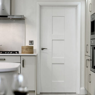 Image: Modern interior white doors from JBK Joinery