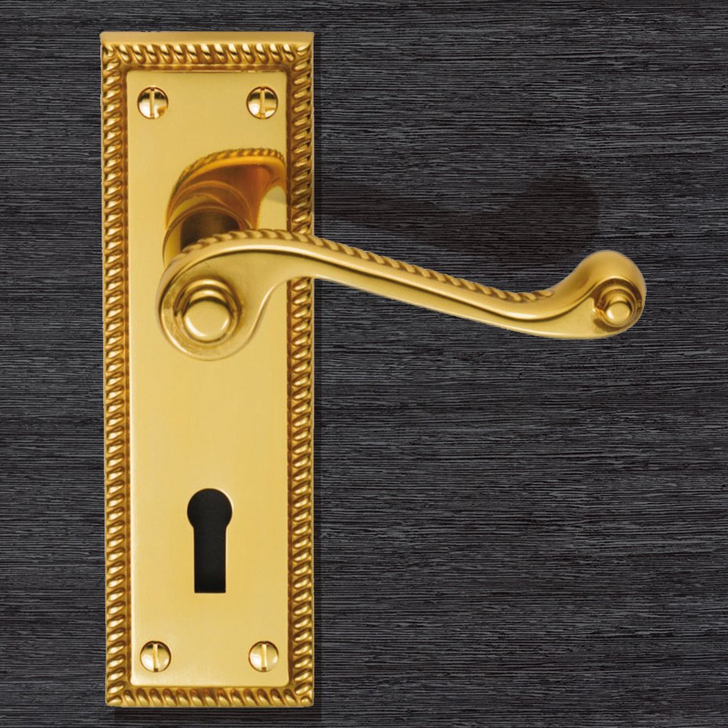 FG1 Georgian Suite Lever lock Door Handles