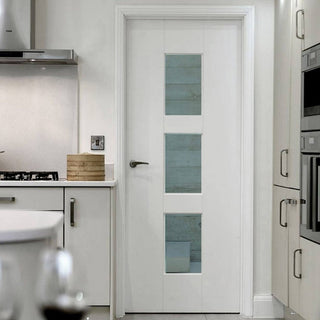 Image: Modern interior white glazed door from JBK