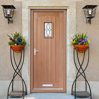 Image: Cottage External Mahogany Door - Bevelled Tri Glazed