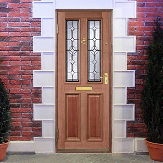 Image: Derby Hardwood Door - Leaded Tri Glazing