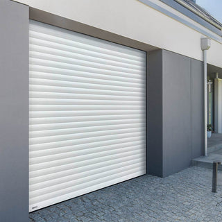 Image: Gliderol Electric Insulated Roller Garage Door from 1900 to 2134mm Wide - White