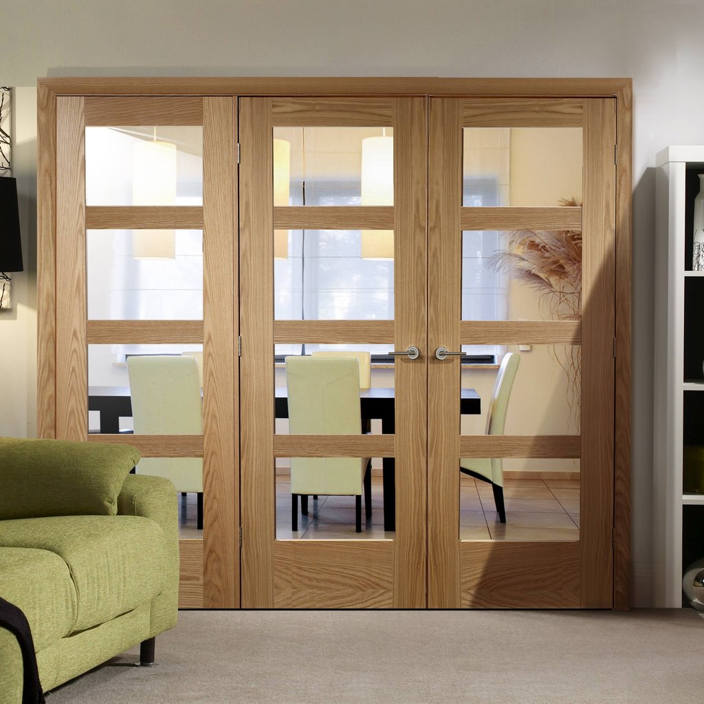 Easi-Frame Oak Door Set - GOSHA4L-COEOP16L - 2005mm Height - 2118mm Wide.