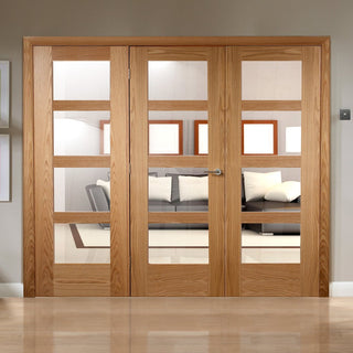 Image: Easi-Frame Oak Door Set - GOSHA4L-COEOP30 - 2005mm Height - 2594mm Wide.