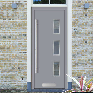 Image: External Spitfire Aluminium S-200 Door - 1364 Stainless Steel - 7 Colour Options
