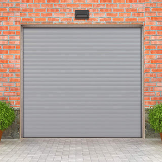 Image: Gliderol Electric Insulated Roller Garage Door from 1900 to 2134mm Wide - Grey