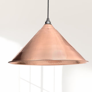 Image: Hammered Copper Hockley Pendant Ceiling Light Fitting
