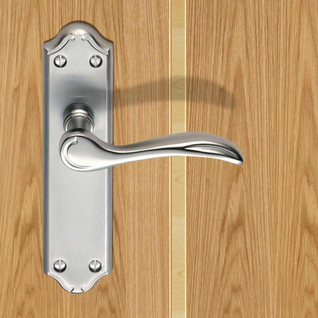 DL191 Madrid Lever Latch Door Handles - 3 Finishes