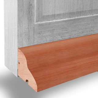 Image: Hardwood Weather Bar - 915mm: Hardwood Weather Drip - Suitable for Inward or Outward Opening Doors