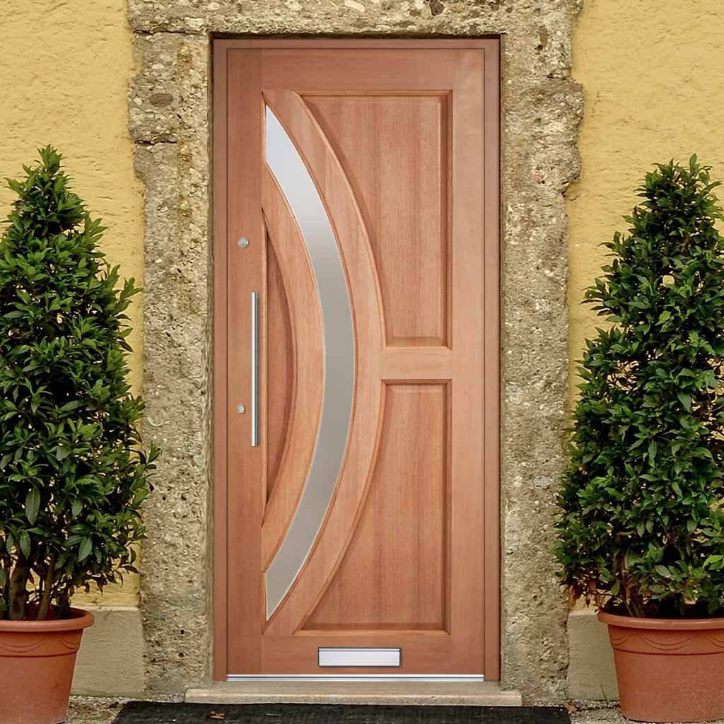Harrow Hardwood Door - Frosted Toughened Double Glazing