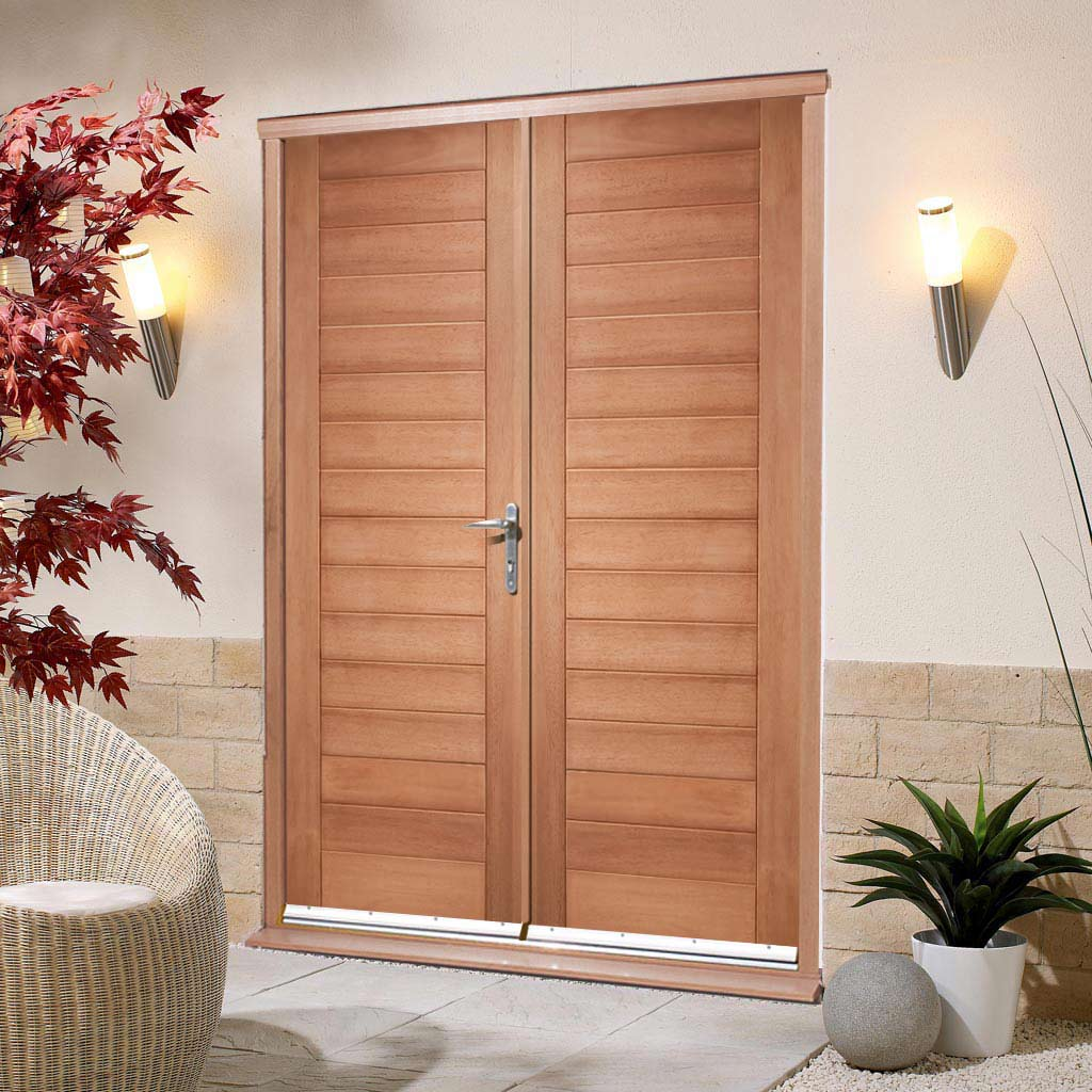 Hayes Exterior Hardwood Double Door and Frame Set, From LPD Joinery