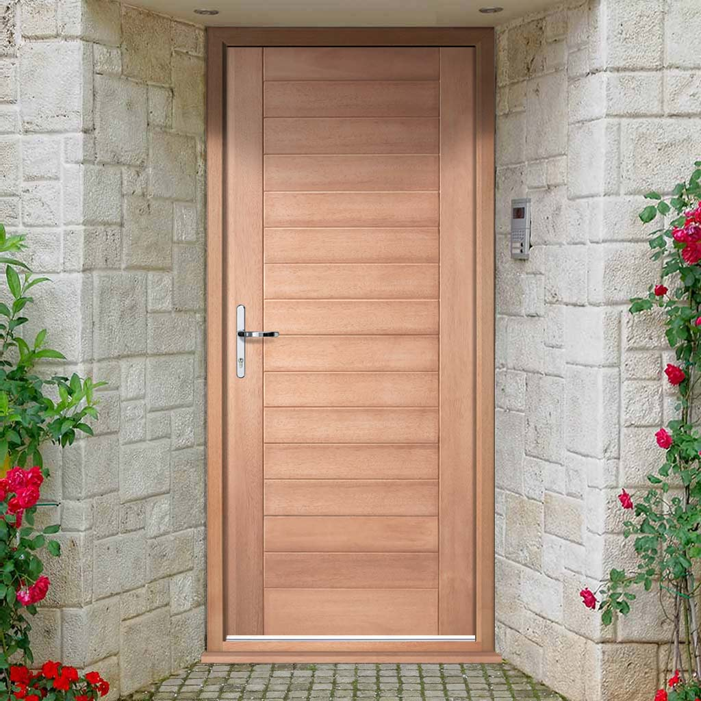 Hayes Flush External Hardwood Door and Frame Set, From LPD Joinery