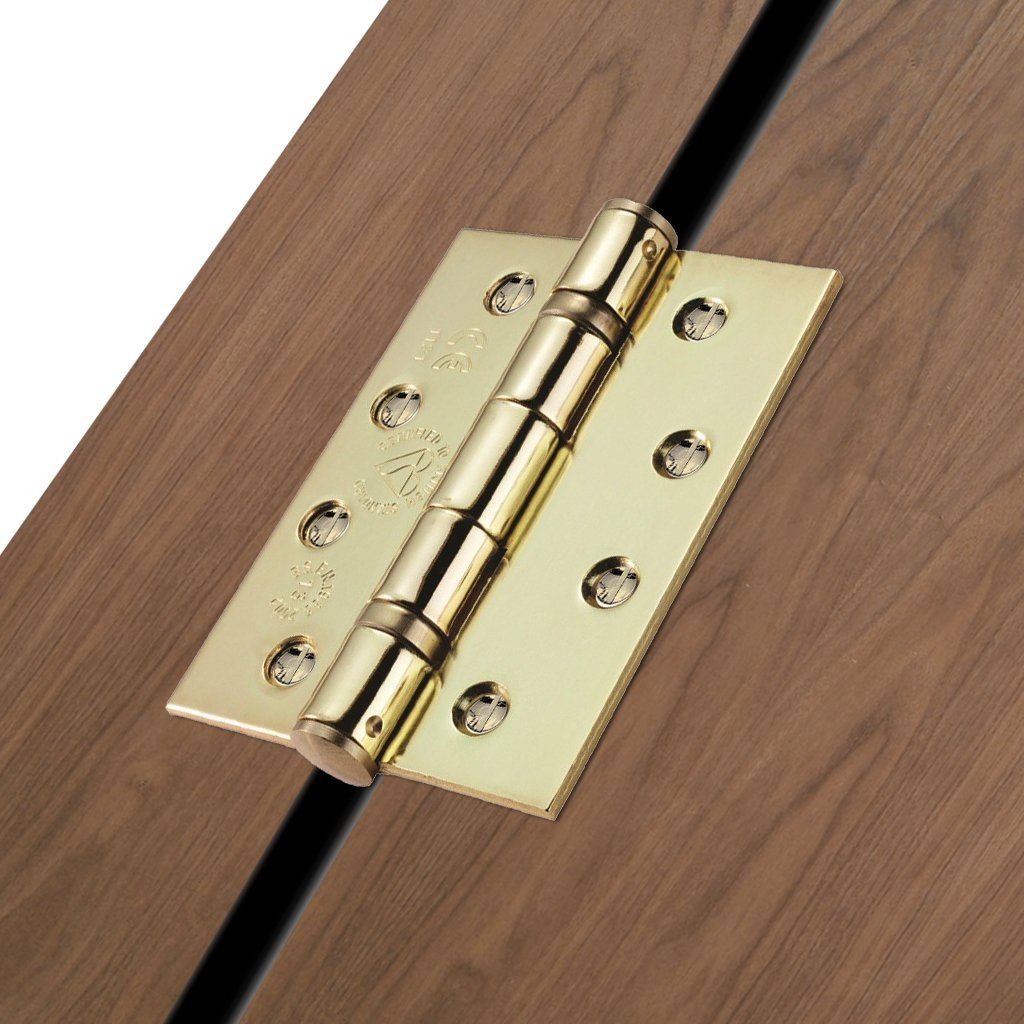 102x76mm Electro Brass: Electro Brass Grade 13 Hinge, also suits fire doors.