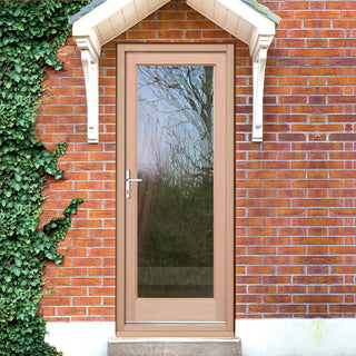Image: EXTERIOR Hemlock Full Pane Door - Fit Your Own Glass
