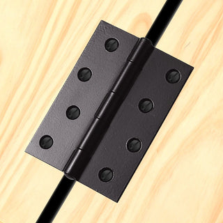Image: Fixed Pin Hinge Powder Coat Black: HINFP4PCB Antique Hinge