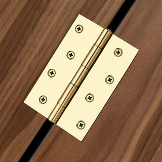 Image: 102x72mm Loose Pin Electro Brass Door Hinge