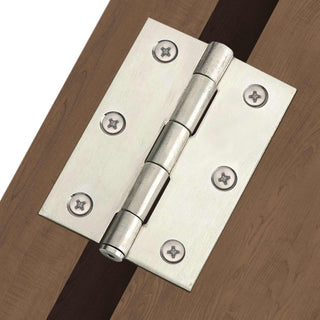 Image: HINLP4CP Chrome Plated Hinges, 100X67X2mm: Chrome Loose Pin Door Hinges - HINLP4CP
