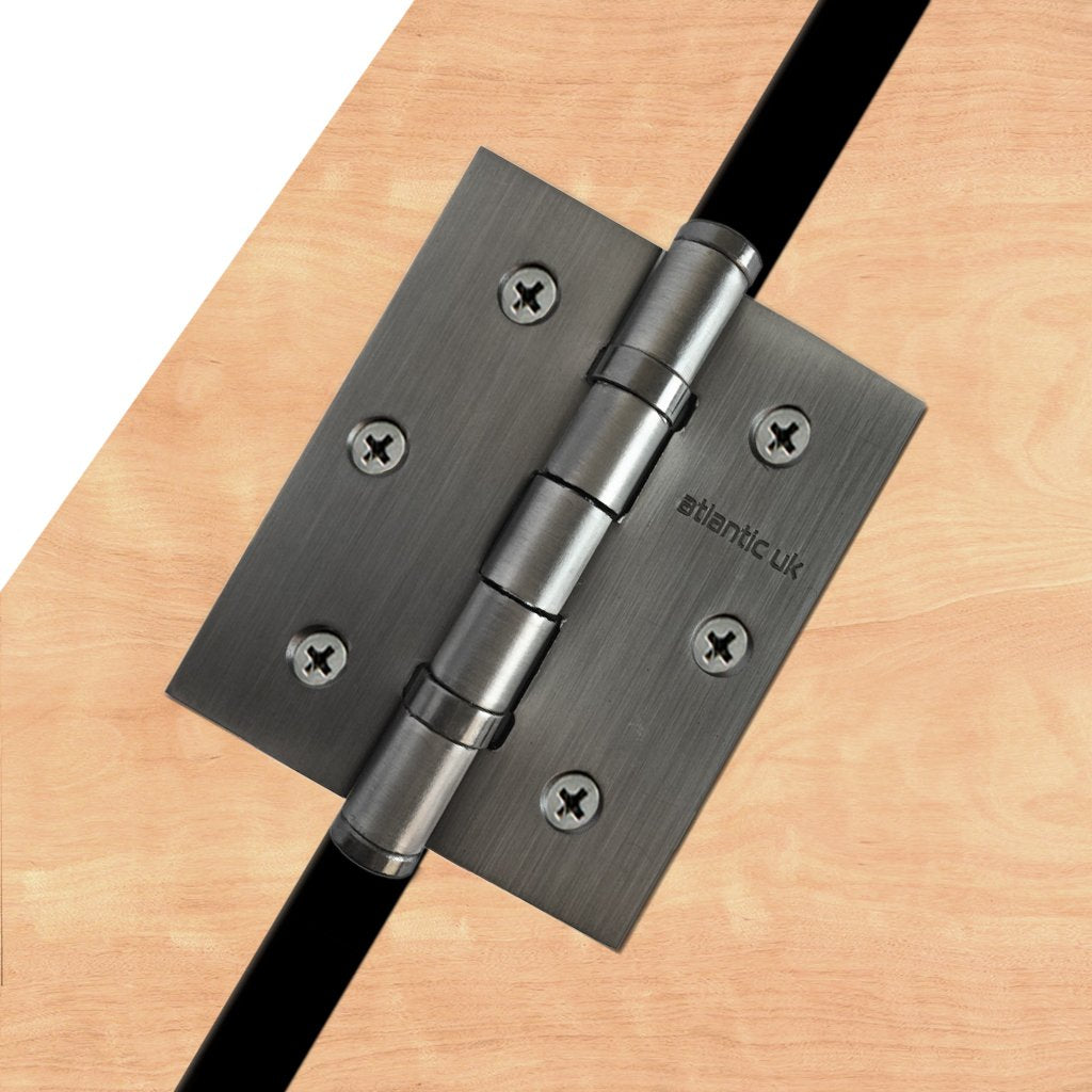 76mm x 64mm x 2.5mm Ball Bearing Hinge - 1 Pair - 8 Finishes