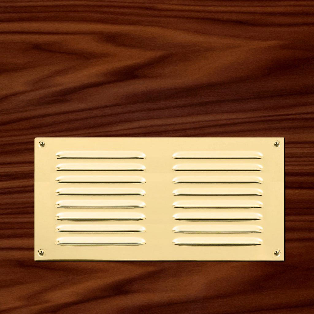 Sale - Brass Louvre Vent - 242mm x 165mm - HL5-PB