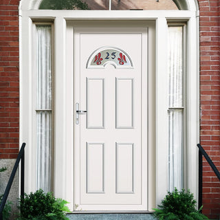 Image: Exterior UPVC Lomond One House Number Door