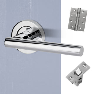 Image: Hyperion Door Handle Pack - Polished Chrome