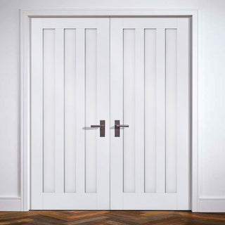 Image: Idaho Panel Door Pair - White Primed