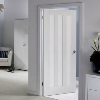 Image: idaho white primed panel door
