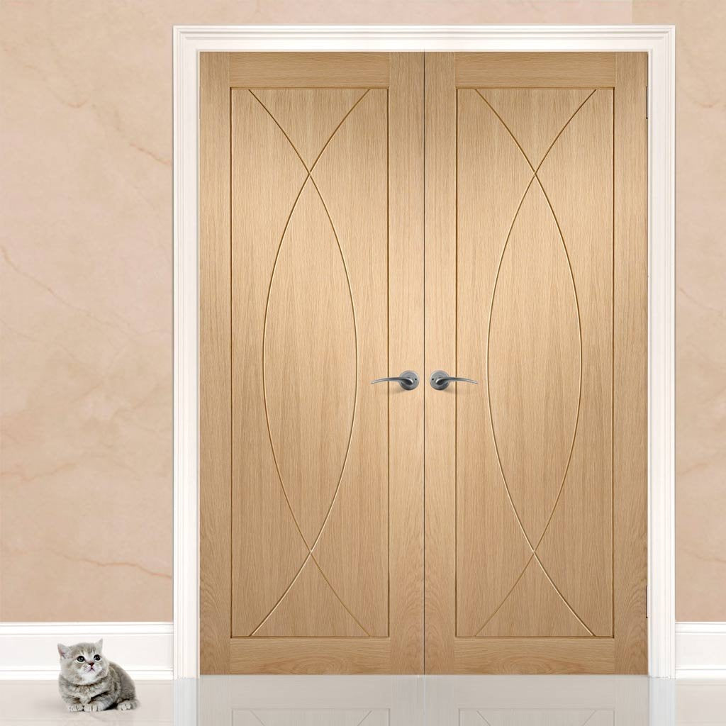 Bespoke Pesaro Oak Flush Door Pair